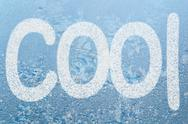 Stock Illustration of frost pattern and word cool