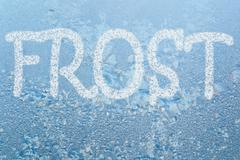 frost pattern and word frost - stock illustration