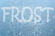 Frost pattern and word frost Stock Illustration