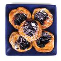 Blueberry sweet danish plate close up Stock Photos