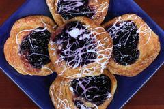 Blueberry danish Stock Photos