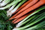 Onions ,parsley and carrots Stock Photos