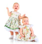 one years old baby girls - stock photo