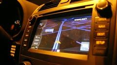 GPS car navigation - stock footage