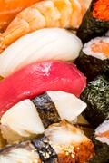 sushi. sea food combination - stock photo