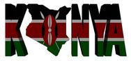 Kenya map text with flag illustration Stock Illustration