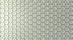 Silver honeycomb background lighting; ; Stock Footage