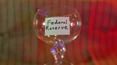 Federal reserve giving to money Stock Footage