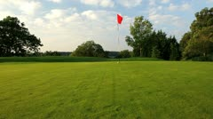 Golf course green Stock Footage