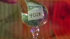 Taking from 401k Stock Footage