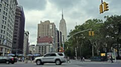 Madison Square Park in New York City Stock Footage
