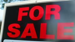 For sale sign close Stock Footage