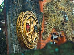 bali temple medallion - stock photo