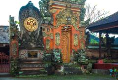 Stock Photo of bali temple medallion