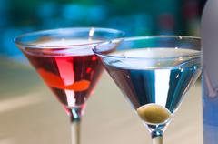 Pair of martini glasses Stock Photos