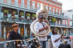 jazz band in new orleans - stock photo
