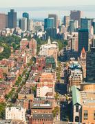 Boston back bay aerial Stock Photos
