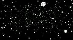 Standard Snowflakes Falling Deep Down Stock Footage