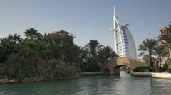 Burj al Arab view Stock Footage