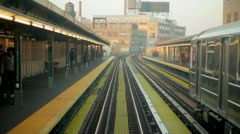 New York City POV Subway 7 Train queens Stock Footage