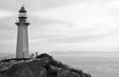 Lighthouse with Searchlight - stock photo