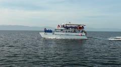 Cruise party boat Pacific Ocean Puerto Vallarta Mexico HD 0634 Stock Footage