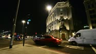 Busy traffic junction in London Stock Footage