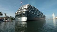 Cruise ship terminal marina Puerto Vallarta Mexico HD 0648 Stock Footage