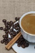 cinnamon and coffee. - stock photo