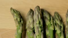 Asparagus Tips Tracking - stock footage