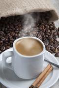 Hot coffee. Stock Photos