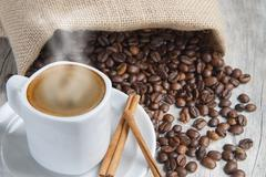 Hot espresso. Stock Photos