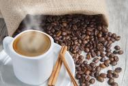 Hot espresso. Stock Photos