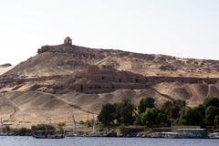 Fortress and nile Stock Photos