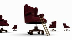 Corporate Ladder + Executive Chair Stock Illustration