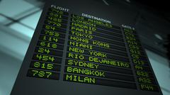 Airport Flight Information Board Stock Illustration