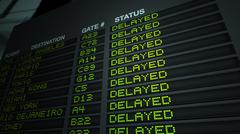 Airport Flight Information Board, Delayed - stock illustration