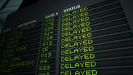 Stock Illustration of Airport Flight Information Board, Delayed