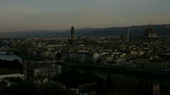 Time lapse sunrise view of Florence Stock Footage