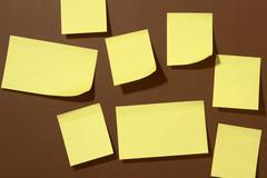 post-it - stock photo