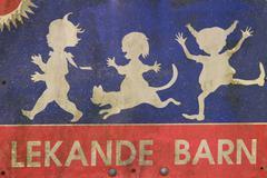 Scandinavian street sign - stock photo