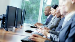 Male Female Team Trading Stocks Shares - stock footage