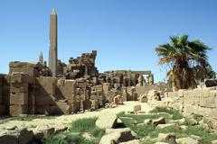ruins and obelisk - stock photo