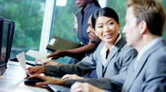 Financial Markets Traders Receiving Manager Support Stock Footage