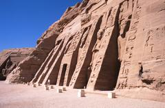 egypt abu simbel temple - stock photo