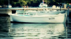 Fisher boat 02 Stock Footage