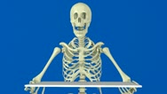 Stock Video Footage of animated skeleton for your message
