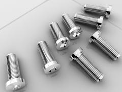 socket cap screws - stock photo