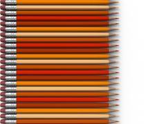 Orange pencils Stock Photos