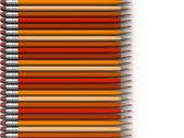 Stock Photo of orange pencils